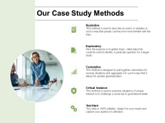 Our Case Study Methods Ppt PowerPoint Presentation Professional Layout Ideas