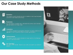 Our Case Study Methods Ppt PowerPoint Presentation Summary Template