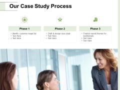 Our Case Study Process Ppt PowerPoint Presentation Model Sample