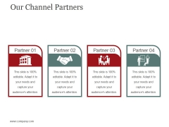 Our Channel Partners Ppt PowerPoint Presentation Pictures Deck