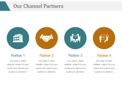 Our Channel Partners Ppt PowerPoint Presentation Slides