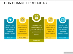 Our Channel Products Ppt PowerPoint Presentation Infographic Template Templates