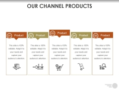Our Channel Products Ppt PowerPoint Presentation Portfolio Deck