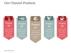 Our Channel Products Template 1 Ppt PowerPoint Presentation Infographics Themes