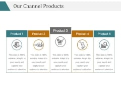 Our Channel Products Template 2 Ppt PowerPoint Presentation Sample