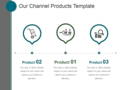 Our Channel Products Template Ppt PowerPoint Presentation Design Templates