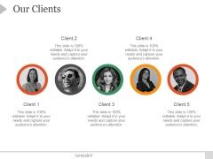 Our Clients Ppt PowerPoint Presentation Diagrams