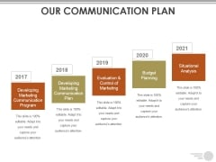 Our Communication Plan Ppt PowerPoint Presentation Slides Visuals