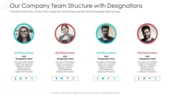 Our Company Team Structure With Designations Diagrams PDF