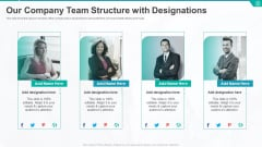 Our Company Team Structure With Designations Ppt Visual Aids Pictures PDF