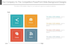 Our Company Vs The Competition Powerpoint Slide Background Designs