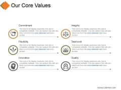 Our Core Values Ppt PowerPoint Presentation Example 2015