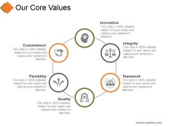 Our Core Values Template 1 Ppt PowerPoint Presentation Inspiration Deck