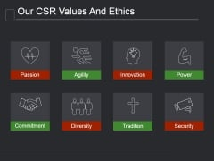 Our Csr Values And Ethics Ppt PowerPoint Presentation Show