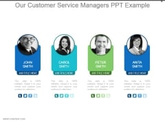 Our Customer Service Managers Ppt Example