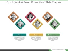 Our Executive Team Powerpoint Slide Themes