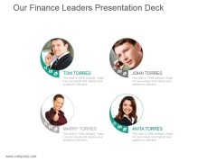 Our Finance Leaders Presentation Deck