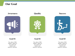 Our Goal And Target Ppt PowerPoint Presentation Gallery Graphic Images