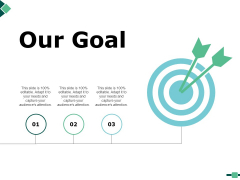 Our Goal And Targets Ppt PowerPoint Presentation Ideas Good