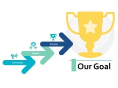 Our Goal Arrow Business Ppt PowerPoint Presentation Slides Information