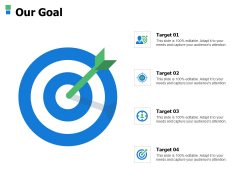 Our Goal Arrow Ppt Powerpoint Presentation Model