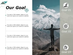 Our Goal Arrow Target Ppt PowerPoint Presentation Gallery Slide