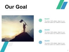 Our Goal Arrow Target Ppt PowerPoint Presentation Model Portrait