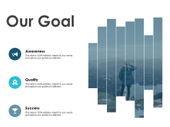 Our Goal Awareness Quality Ppt PowerPoint Presentation Model Inspiration