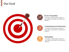 Our Goal Focus On Quality Ppt PowerPoint Presentation Infographics Example Topics