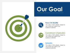 Our Goal Focus On Quality Ppt PowerPoint Presentation Outline Ideas