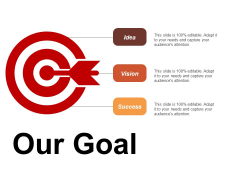 Our Goal Idea Vision Success Ppt Powerpoint Presentation Summary Model
