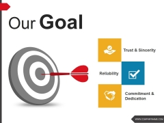 Our Goal Ppt PowerPoint Presentation Diagram Graph Charts