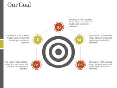 Our Goal Ppt PowerPoint Presentation File Portfolio