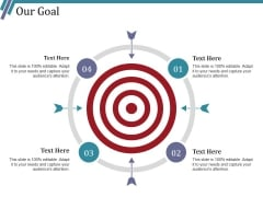 Our Goal Ppt PowerPoint Presentation Icon Pictures