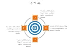 Our Goal Ppt PowerPoint Presentation Icon