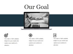 Our Goal Ppt PowerPoint Presentation Infographic Template Infographics