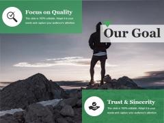 Our Goal Ppt PowerPoint Presentation Model Slideshow