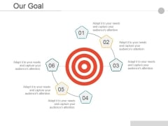 Our Goal Ppt PowerPoint Presentation Portfolio Graphics
