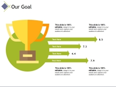our goal ppt powerpoint presentation professional example