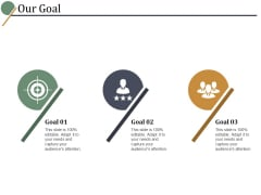 Our Goal Ppt PowerPoint Presentation Professional Objects