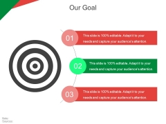Our Goal Ppt PowerPoint Presentation Slides Graphics