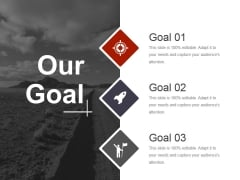 Our Goal Ppt PowerPoint Presentation Slides Shapes