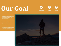 Our Goal Ppt PowerPoint Presentation Summary Elements