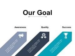 Our Goal Quality Ppt PowerPoint Presentation Visual Aids Show