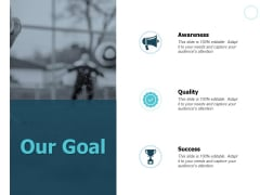 Our Goal Quality Success Ppt PowerPoint Presentation Infographics Portrait