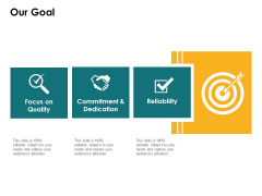 Our Goal Reliability Quality Ppt PowerPoint Presentation Ideas Icon