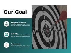 our goal target audiences ppt powerpoint presentation ideas information