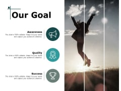 Our Goal Targets Management Ppt PowerPoint Presentation Gallery Grid