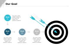 Our Goal Targets Ppt PowerPoint Presentation Model Design Ideas