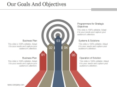 Our Goals And Objectives Ppt PowerPoint Presentation Designs Download